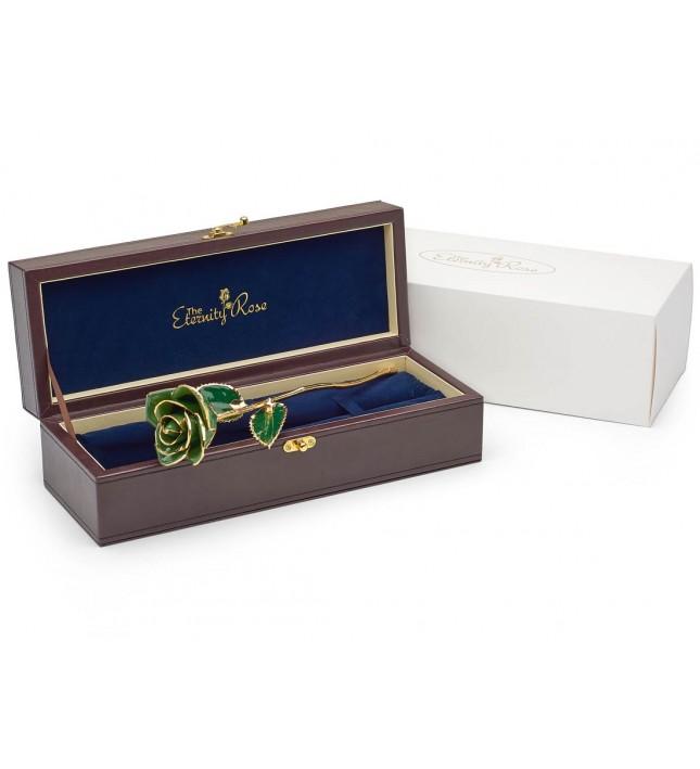 green rose romantic gift