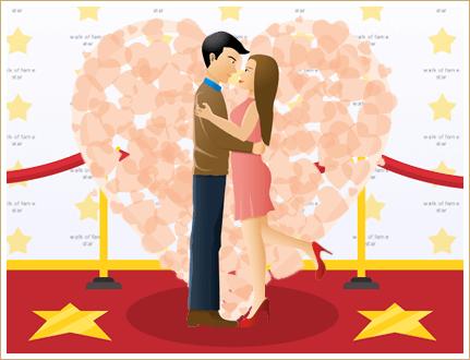 Valentinstag von Prominenten