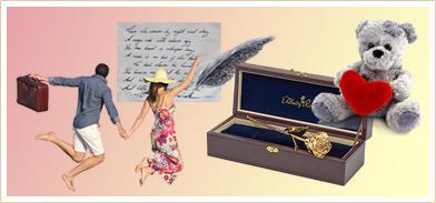 Romantisches Geschenk zum Valentinstag