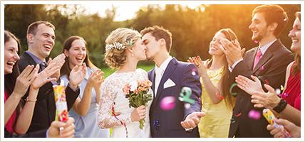 Ehepaar bei seiner Hochzeit